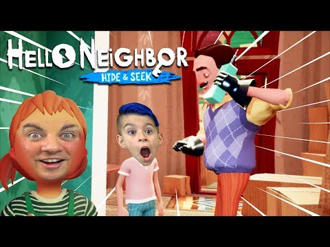 HELLO NEIGHBOR IS OUR DAD?! Hide And Seek (New Game) |