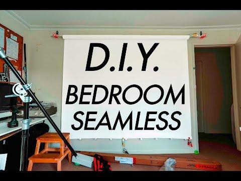 DIY BEDROOM STUDIO SEAMLESS BACKDROP