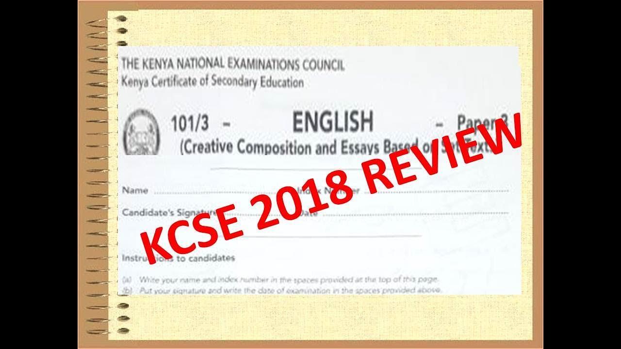 KCSE 2018 English Paper| REVIEW