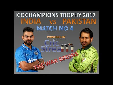Live: Ind Vs Pak, ICC Champions Trophy, 4th Match: India v Pakistan at Birmingham, Jun 4, 2017
