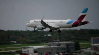 Landing in HAMburg Airport Strong Winds 04-Oct-2017