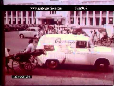 Colombo, Sri Lanka in the late 1950's.  Archive film 94391