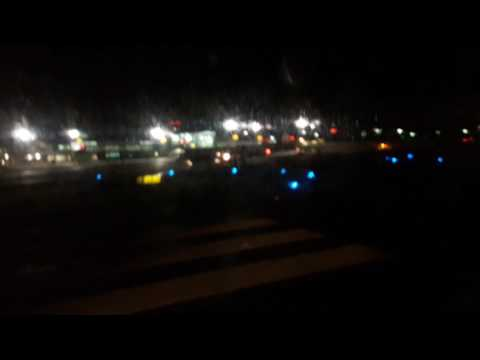 LANDING AT NIGHT IN SAN JOSÉ. COSTA RICA