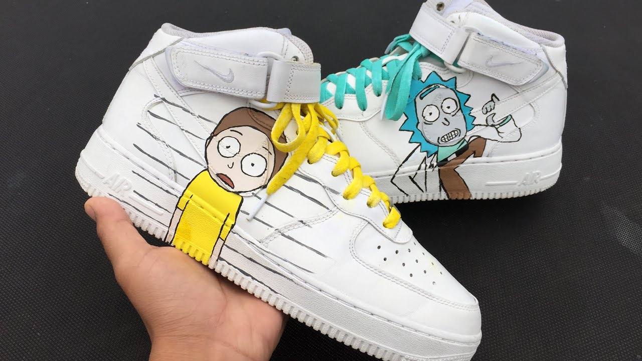 uk availability best supplier official images Rick and Morty Nike air force 1 customs