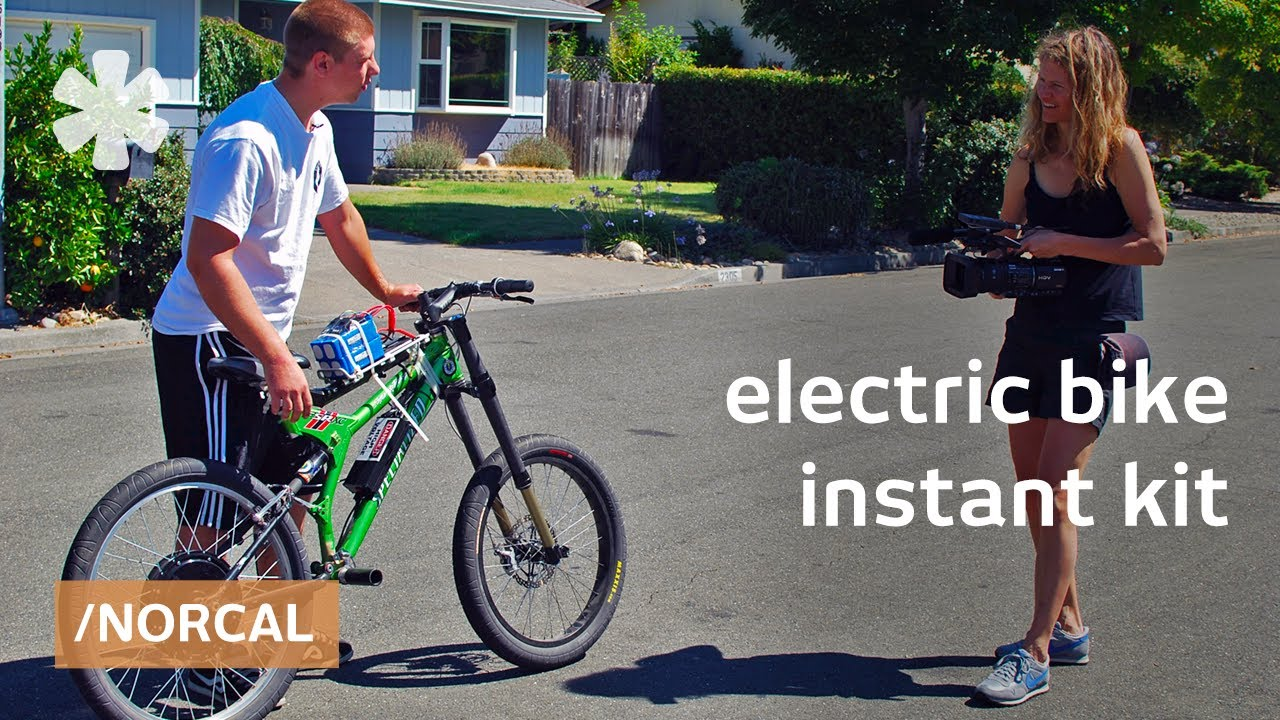 instant e bike electric bike conversion kits youtube. Black Bedroom Furniture Sets. Home Design Ideas