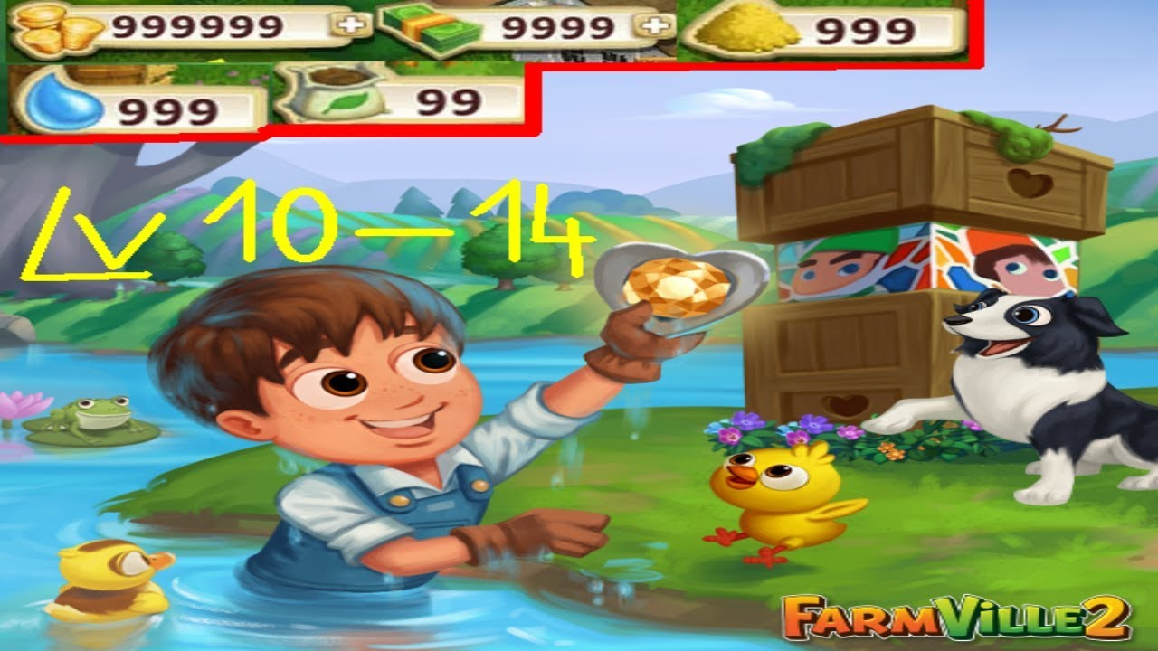 FarmVille 2 LEVEL 10-14 Gameplay Hack Unlimited Money, Keys
