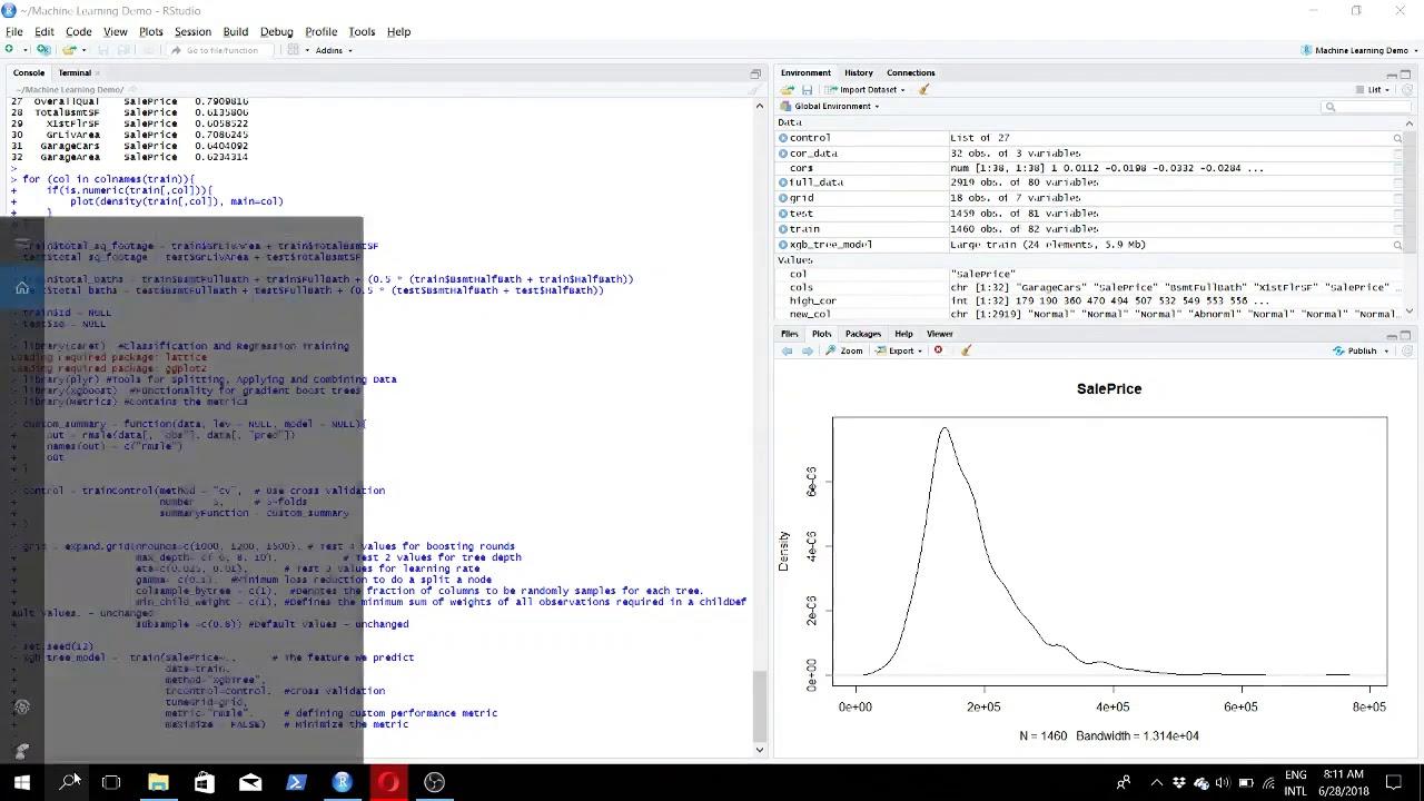 Kaggle Machine Learning using R XGboost