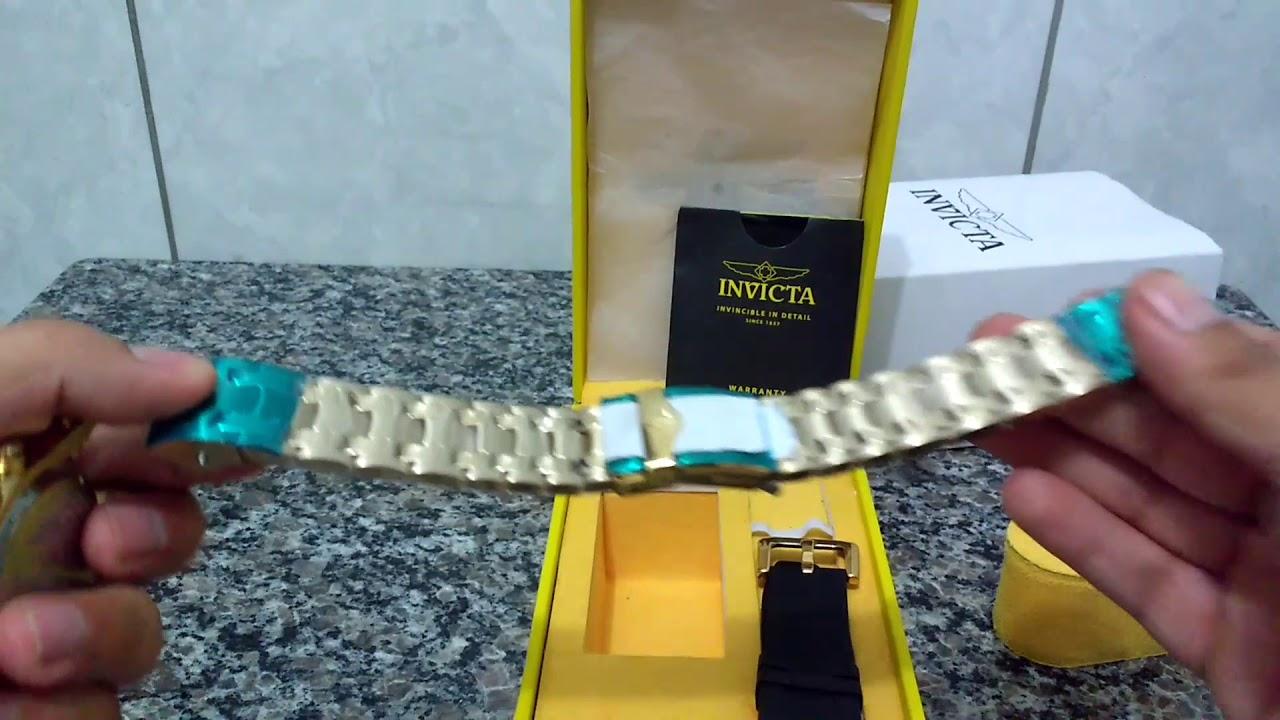 dd8c49fd401 Como Trocar a Pulseira Do Seu Relógio Invicta Pro Diver 23650 Simples e  Fácil (Dedê-Shopp)