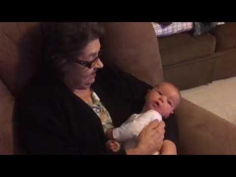 Grandmama holding william. 3 months.  Sept 1 2017