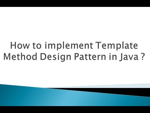How to implement Template Method Design Pattern in Java ? - YouTube