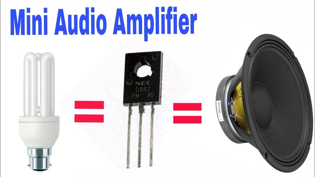 How to make Mini audio amplifier