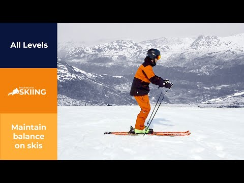 How to maintain balance on skis