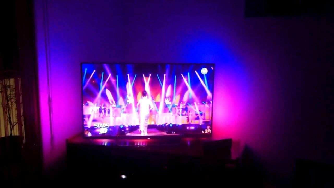 leds tv d 39 ambiance avec la tnt youtube. Black Bedroom Furniture Sets. Home Design Ideas