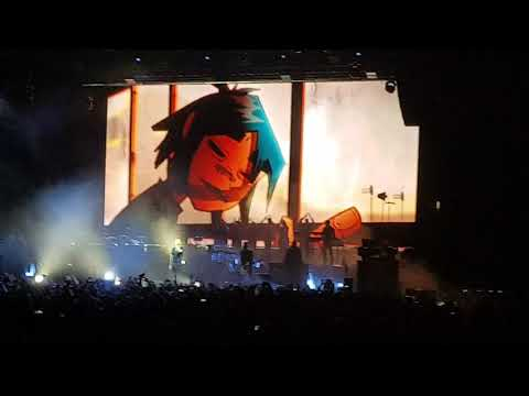 Gorillaz - Feel Good Inc. Live @ Hovet Stockholm Sweden 2017