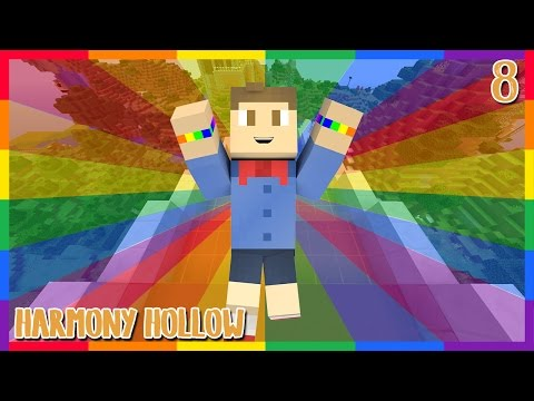 RAINBOW ROAD    Harmony Hollow Episode 8    Modded Minecraft SMP