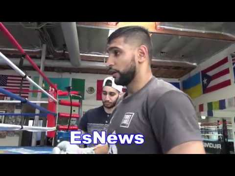 Amir Khan & Mike Lee Working Out - EsNews Boxing