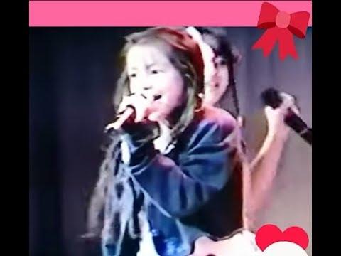 ☆安室奈美恵 namie amuro 12歳。3人で沖縄アクターズスクール内定期公演にて☆Heart stompi'n music オリジナルはプリンセスプリンセス。