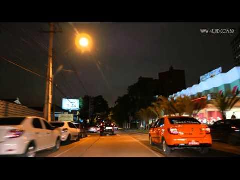 4K UHD - Curitiba Street View Noturno