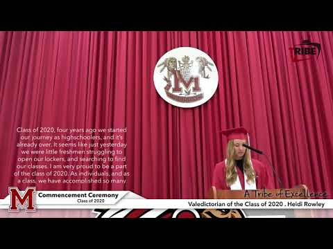 (HD) Commencement Digital Celebration Ceremonies for the Class of 2020 at Mississinewa High School
