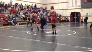 Cameron Owens (Indian Valley M.S.) wrestling vs  Bellefontaine on 12 14 13