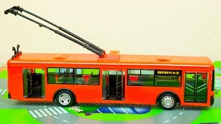 Обзор машинок для детей. Тролейбусс. Игровой набор Автопром. Overview cars for children.