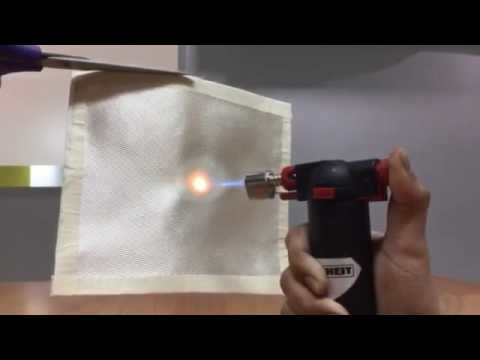 burning silica fabric