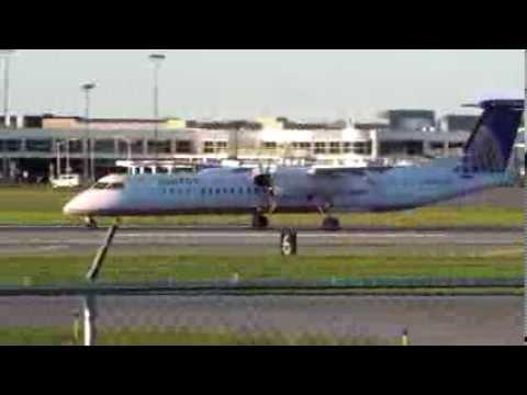 United Express Dash-8 Q400 Landing [HD]