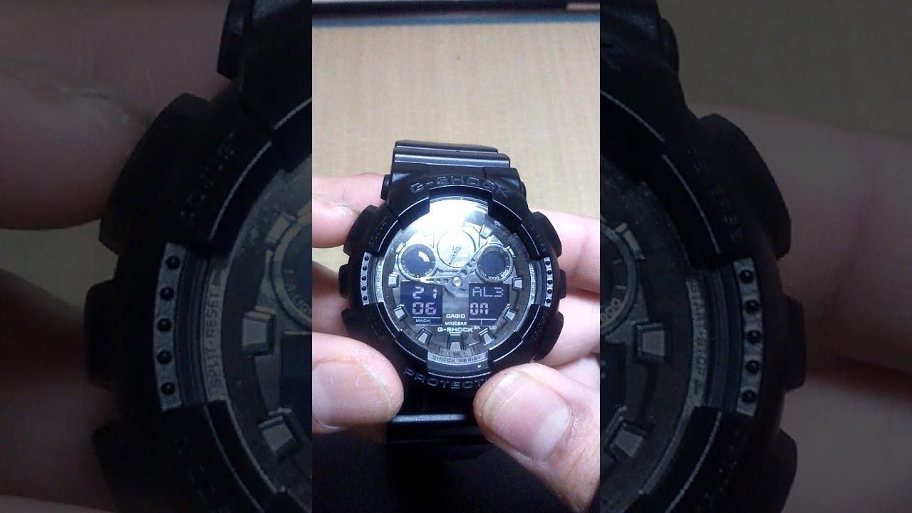 Setting Alarm G Shock Ga100cf Youtube Casio Gshock Original Ga100mb 1adr Ga 100mb