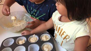 Hướng dẫn con làm bánh Muffin Táo