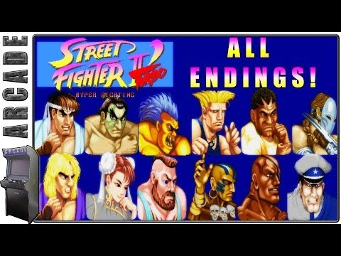 Street Fighter 2' Turbo Hyper Fighting |  All Endings + Special Credits | Arcade Version