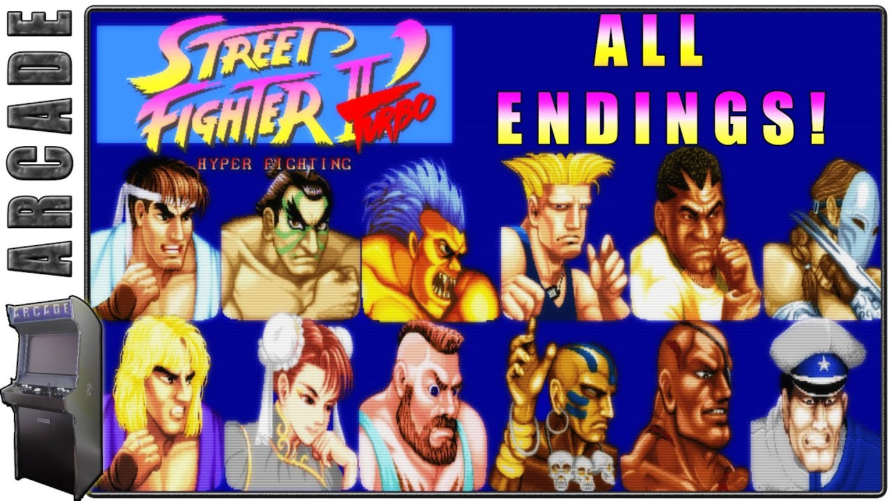 Street Fighter 2 Turbo Hyper Fighting All Endings Special