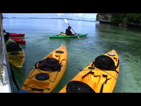 Palau  Micronesia Ulong Island Kayaking June Part1  Paul Ranky HD Video