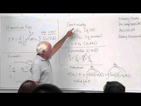 Fluid Mechanics: Linear Momentum Equation Examples (12 of 18)
