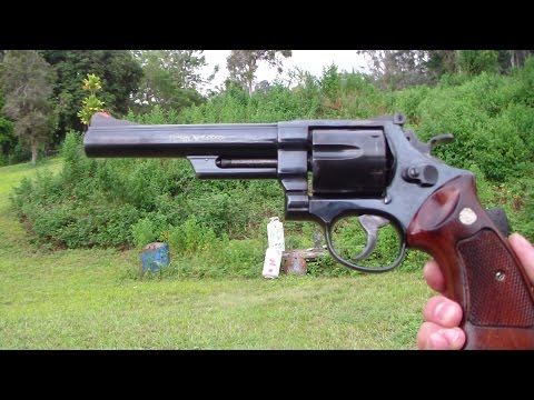 Smith & Wesson model 29 close up shooting. BATJAC J.W
