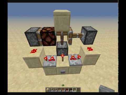 Minecraft tutorial retractable lightning with redstone lamps minecraft tutorial retractable lightning with redstone lamps aloadofball Images