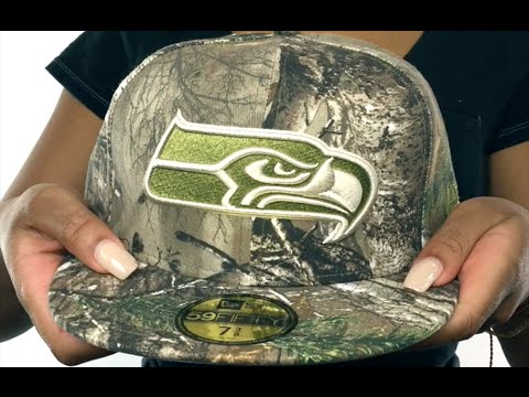 Seahawks  NFL TEAM-BASIC  Realtree Camo Fitted Hat by New Era - YouTube ca84d0c8f