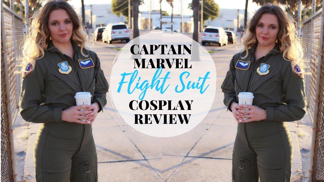 Download Captain Marvel Flight Suit Cosplay Review - Stitch's Loft Pilot Suit