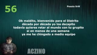 100 Rimas de Aczino!! |  Especial 6000 subs