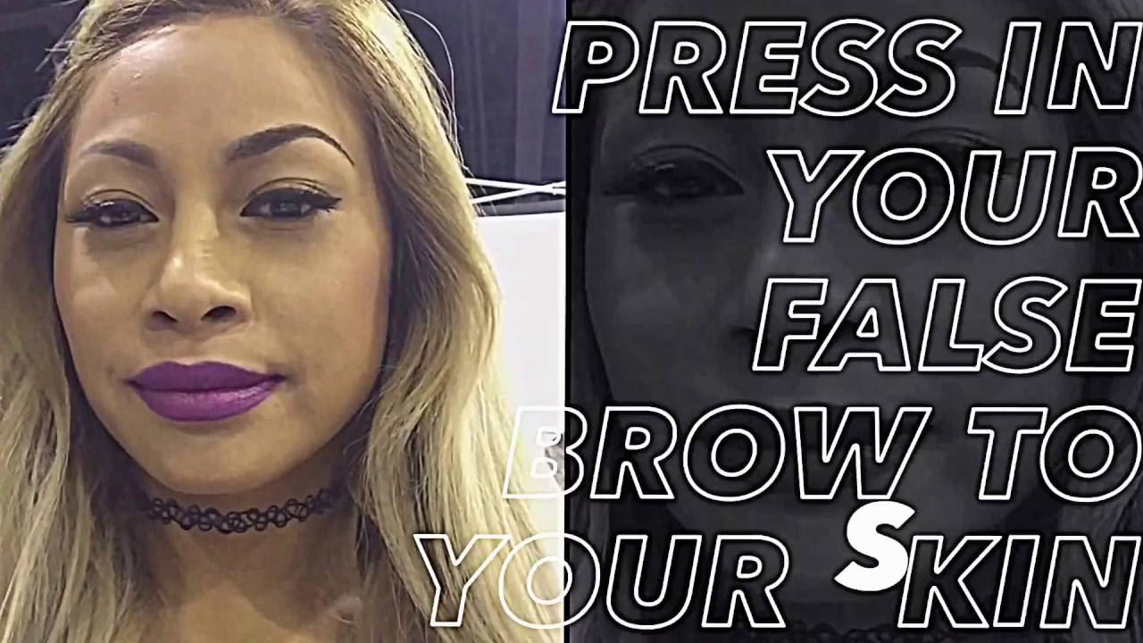 How to Apply False Eyebrows - YouTube