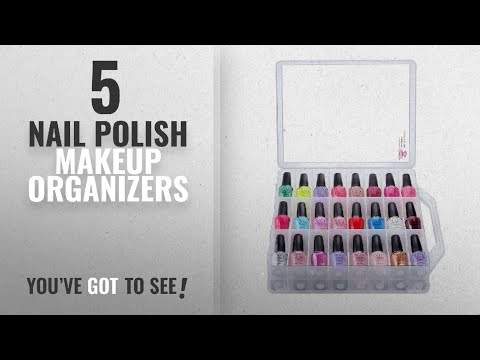 Top 10 Nail Polish Makeup Organizers [2018]: Makartt Universal Clear Nail Polish Organizer Holder