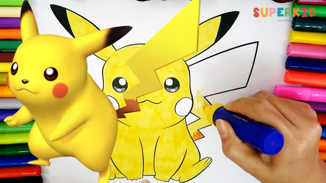 Easy Pikachu Coloring Page Free