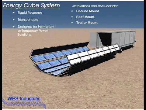 Cubed Solar Array Configuration