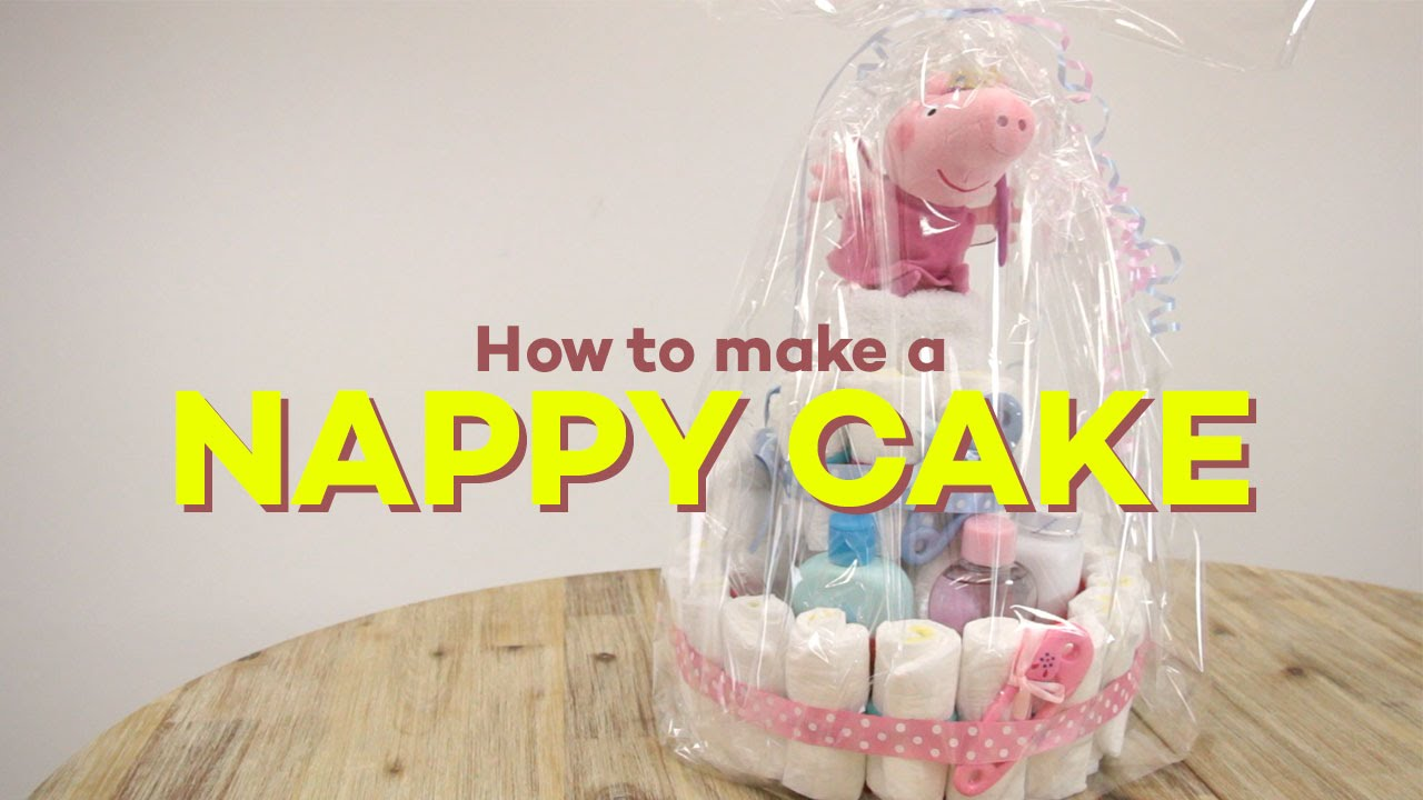 Cake Design How To Make : How to Make a Nappy Cake - Step by Step Tutorial - YouTube