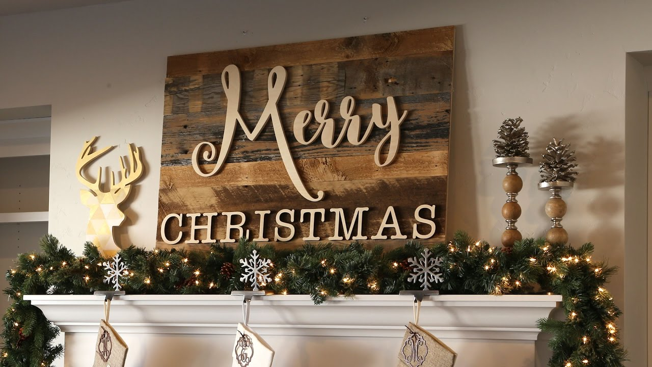 Rustic Merry Christmas Signs Reclaimed Wood Merry Christmas Sign - Youtube