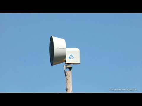 ASC T135AC/DC siren test,Morris, Illinois (Exelon Nuclear warning system)