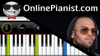 Chris Brown - Forever - Piano Tutorial