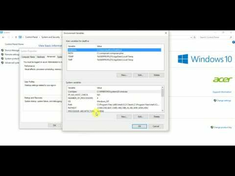 Path Environment Variable in Windows 10