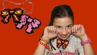 Lazo de Hama para collar. Hama bead necklace