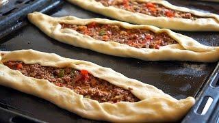 بالفيديو : تعلمي طريقه عمل البيتزا التركية بالكفتة لذييذة