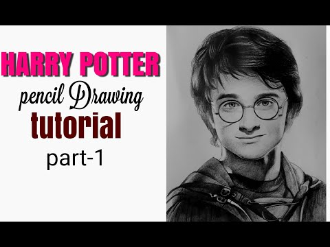 HARRY POTTER PENCIL DRAWING PART -1/PENCIL SKETCH/ PENCIL DRAWING TUTORIAL thumbnail